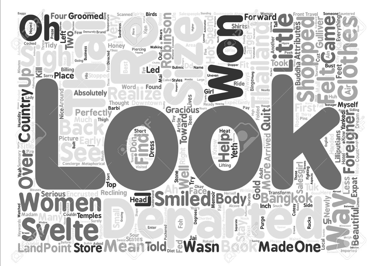 The Svelte Thai Women And The Won Sigh Foreigner Word Cloud 1300x917