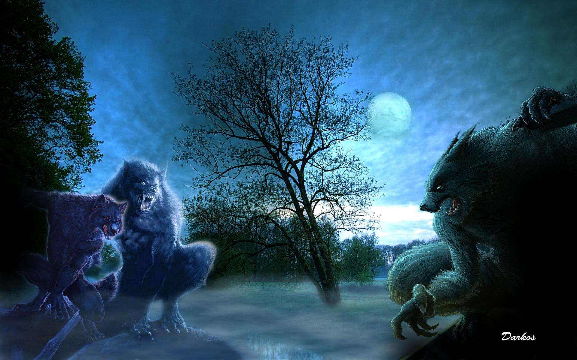 Dark Werewolf Wallpaper 1920x1200 Dark Werewolf 1920x1200