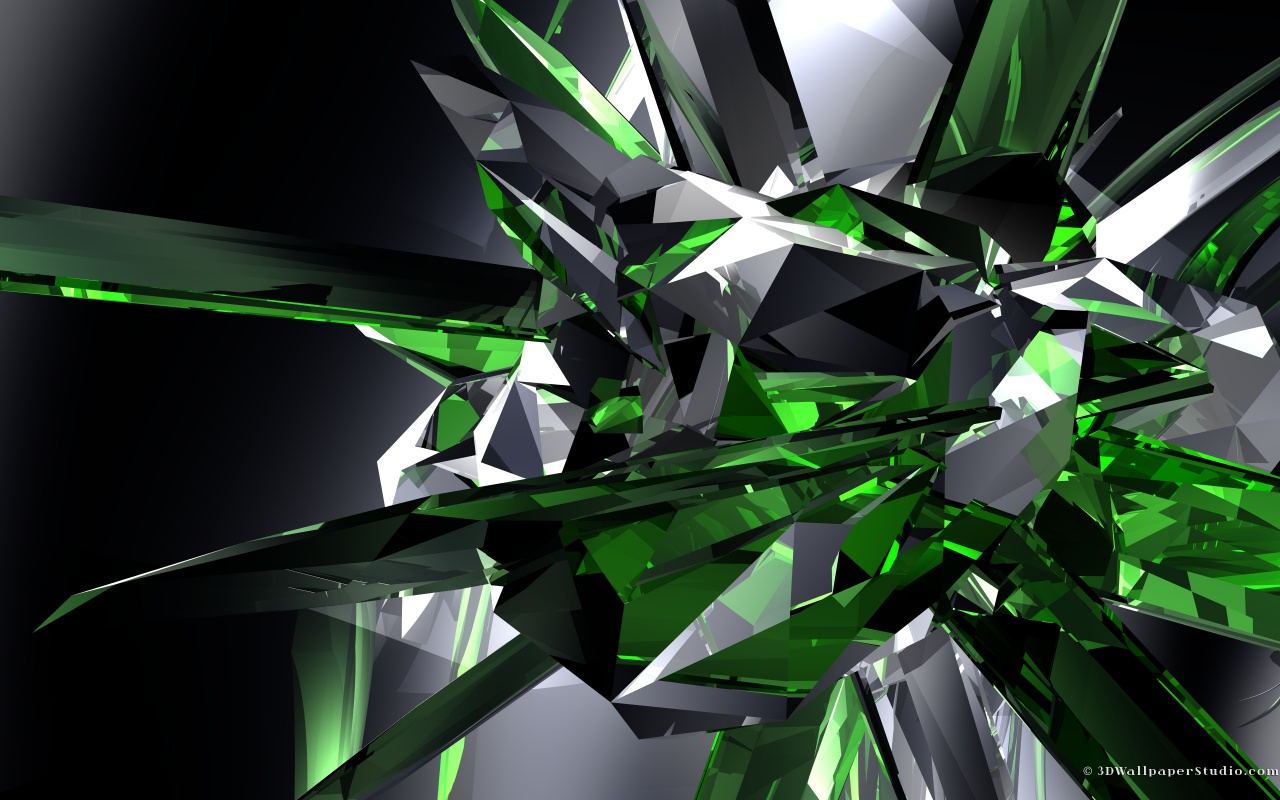 Emerald crystals wallpaper in 1280x800 screen resolution 1280x800