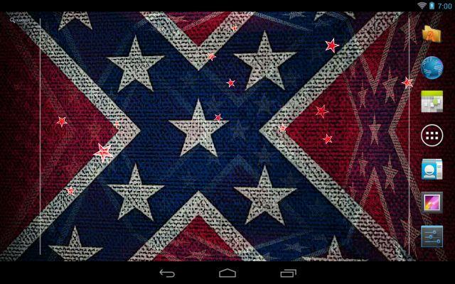 3D Rebel Flag Live Wallpaper   screenshot 640x400