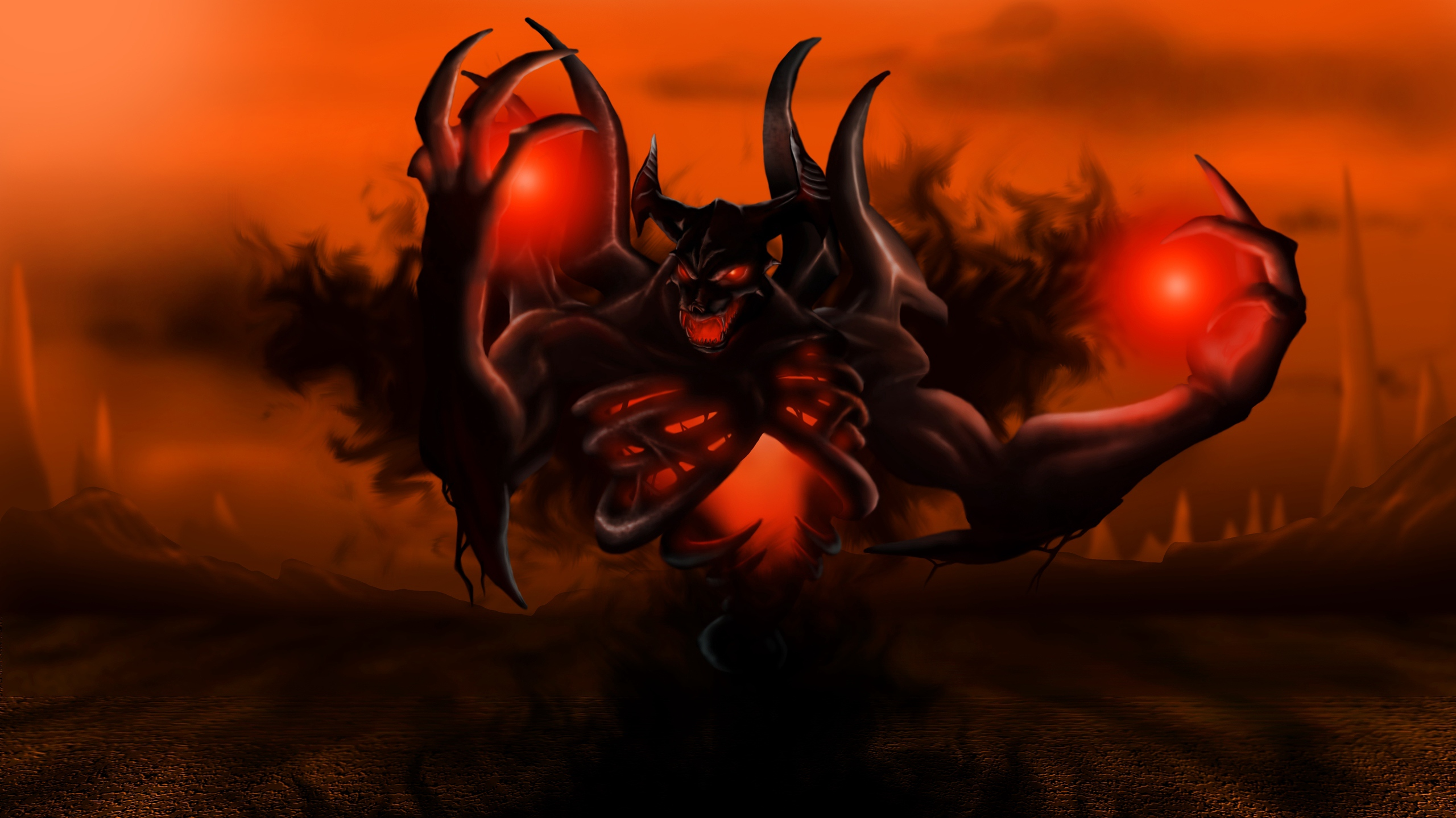 Download wallpaper 2560x1440 nevermore shadow fiend dota 2 hd 2560x1440