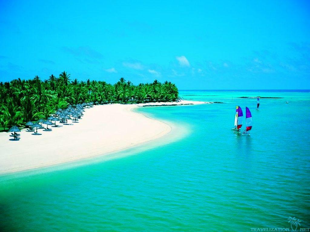 Scenic Beach Hd Photo Wallpaper: Beautiful Ocean Scenes Wallpaper