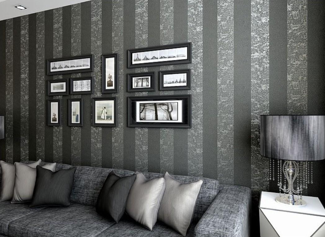 Free Download Gray Vertical Stripe Wallpaper For Elegant