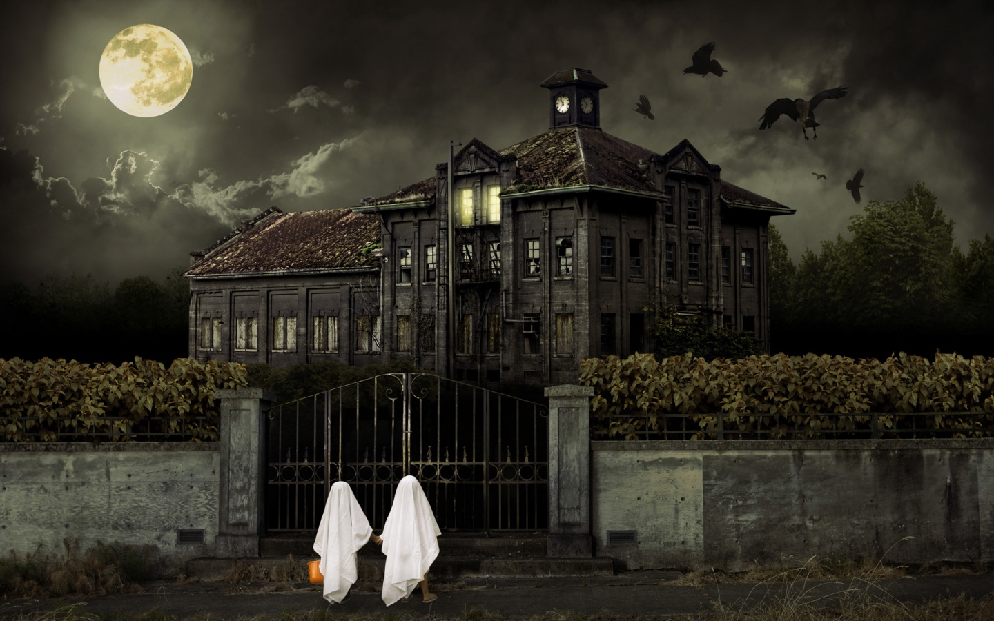 Halloween Haunted House HD Wallpaper Haunted HD Wallpaper 3D Horror 1440x900