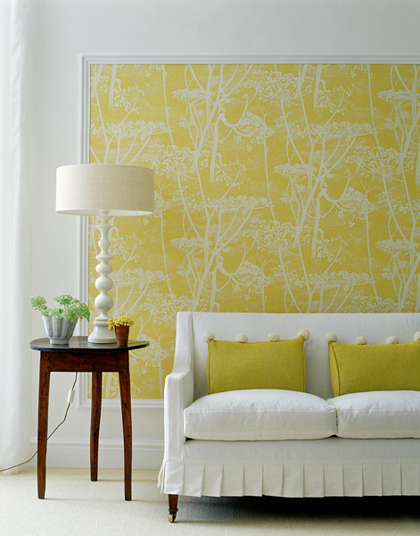 Decorating ideas using wallpaper How About Orange 471x600