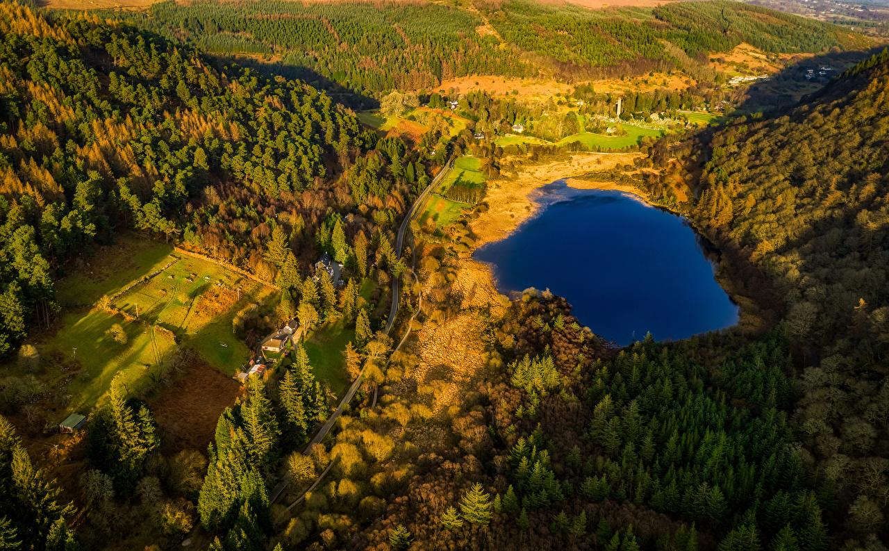 Photos Ireland Glendalough Wicklow Mountains National Park Nature 1280x793
