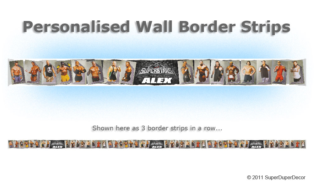 Details about WWE SUPERSTARS BEDROOM WALL wallpaper BORDER raw ecw 1000x600