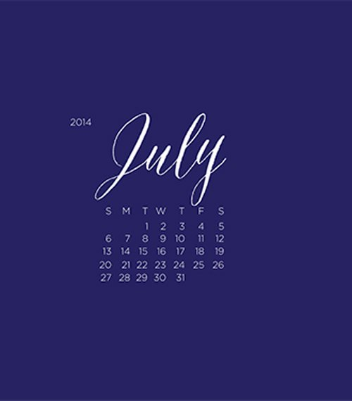 blog Wallpapers Comments Off on July Wallpaper Calendar 500x570
