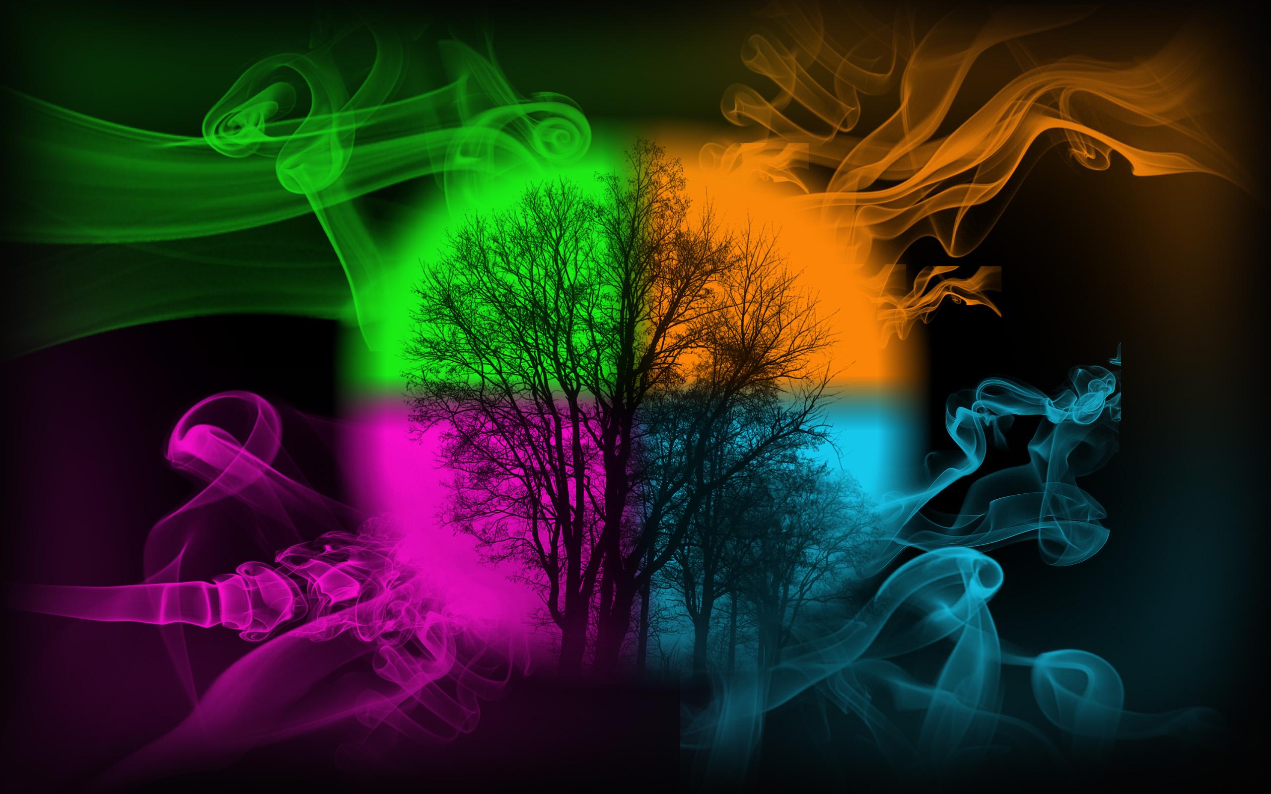 Wallpaper colorful smoke by Meronol 2560x1600