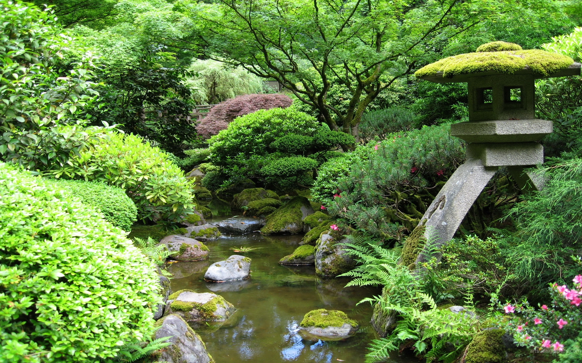 Japanese Garden Art Prints Art Wall and Posters Wall Murals Buy a 1920x1200