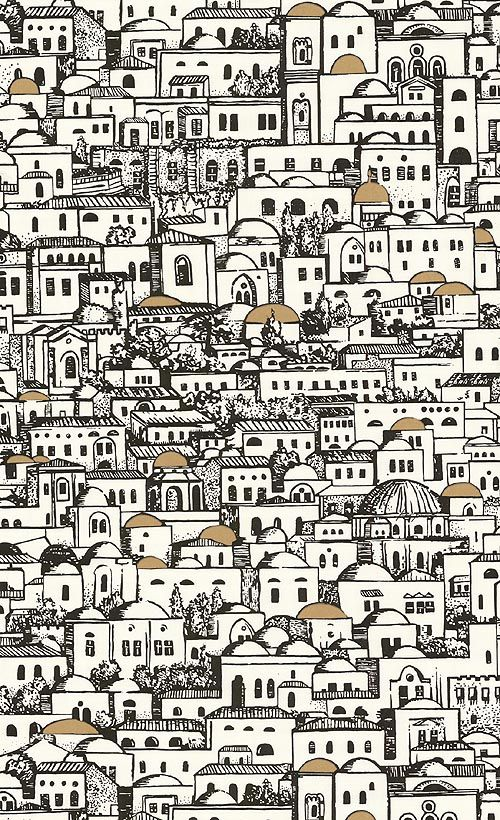 fornasetti wallpaperjpg 500x820