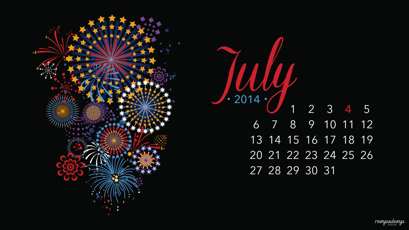 july calendar wallpaper   weddingdressincom 1366x768