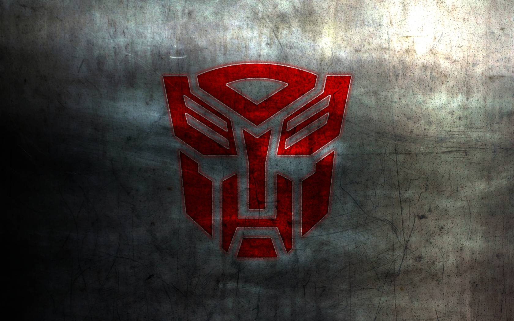 autobot logo on metal red   Transformers Wallpaper 1680x1050