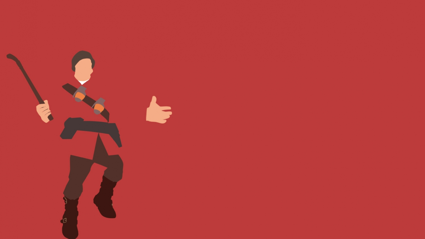 download TF2 Red Soldier Minimalist Wallpaper by bohitargep 1366x768