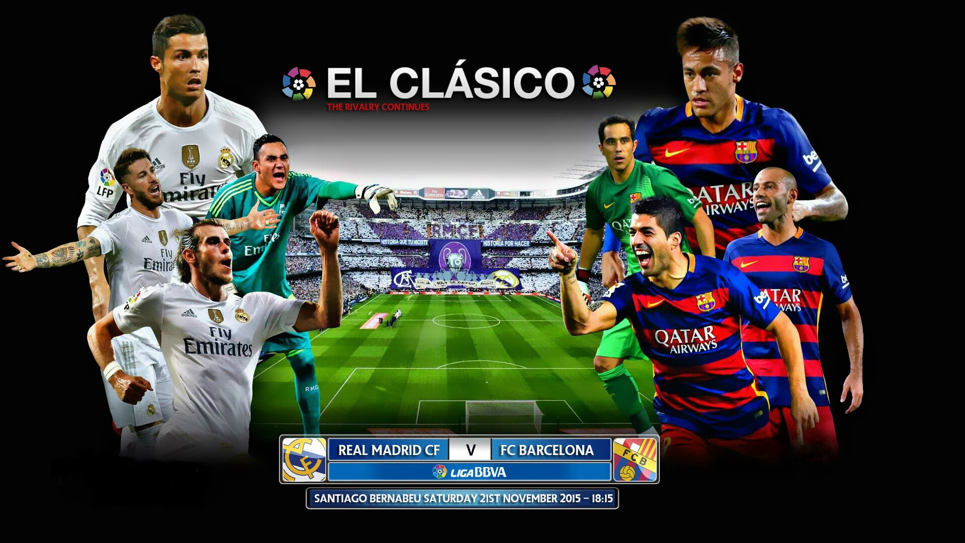 Download Real Madrid vs FC Barcelona 2015 El Clasico HD Wallpaper 1920x1080