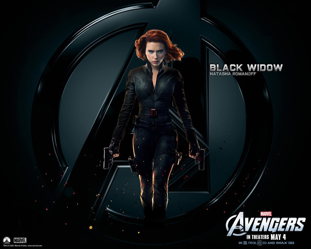 Black Widow   The Avengers Wallpaper 30730371 1280x1024