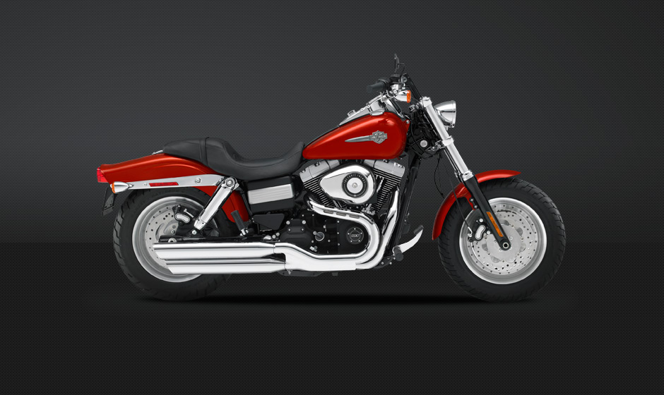 Harley Davidson Fat Bob 2013 Side View Red 940x560