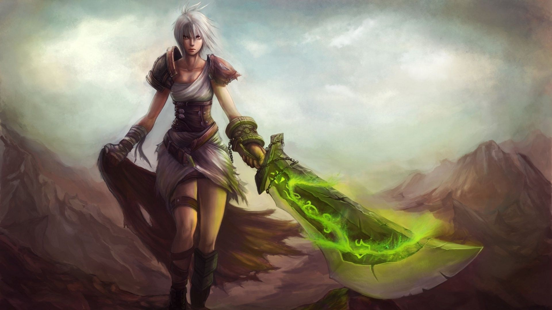 Free Download League Of Legends Wallpaper 1366x768 Riven League Of