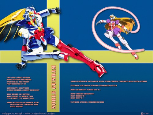 Mobile Fighter G Gundam Wallpaper Noble Gundam   Minitokyo 500x375