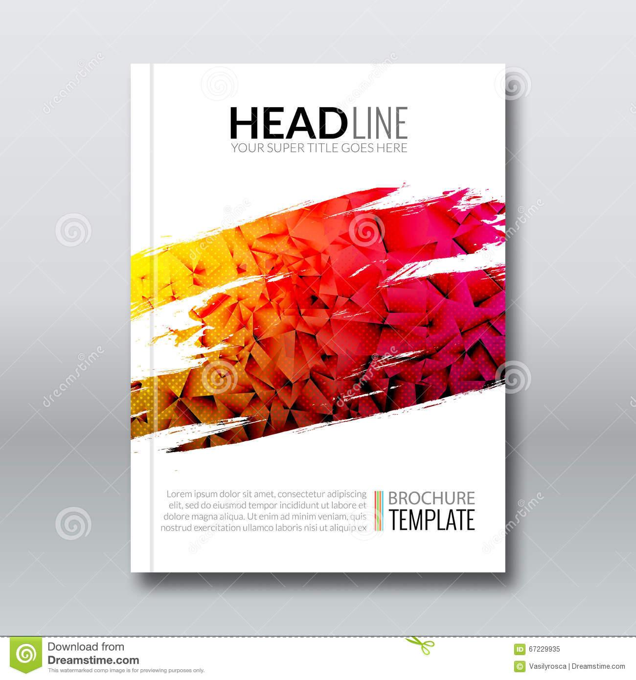 Cover Report Colorful Triangle Geometric Prospectus Design 1300x1390