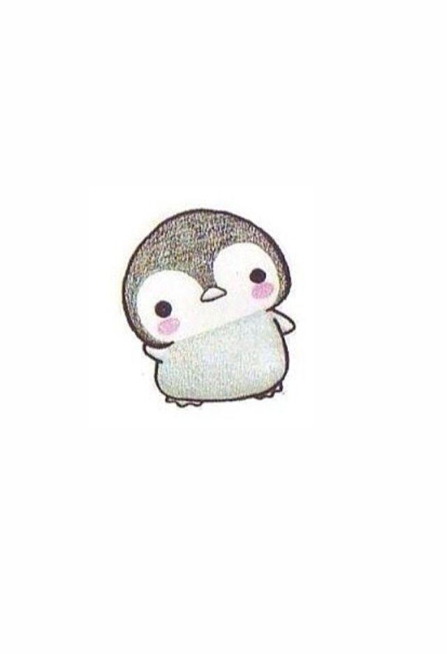 kawai cartoon wallpaper tumblr Cute Weheartit Penguin 640x960