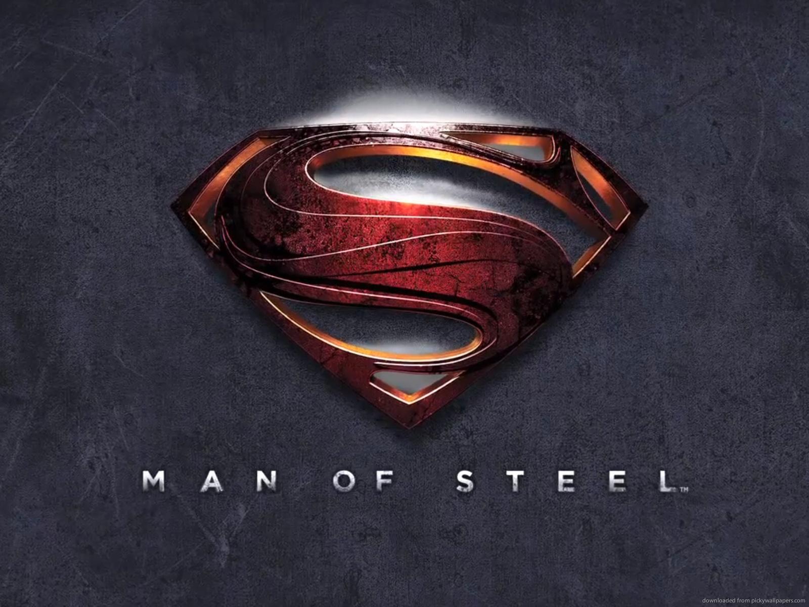Download 1600x1200 Man Of Steel Logo Wallpaper 1600x1200