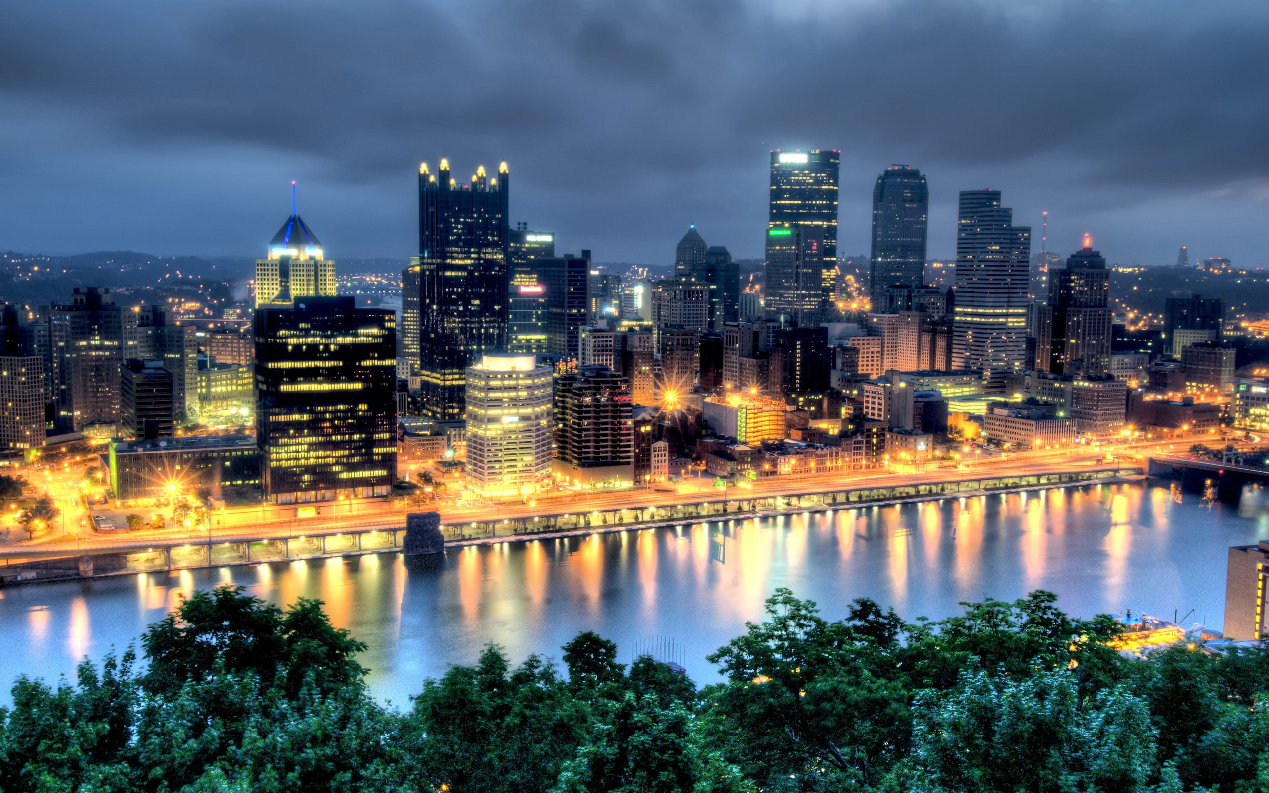 Pittsburgh in Dark Wallpapers   2560x1600   1592330 2560x1600