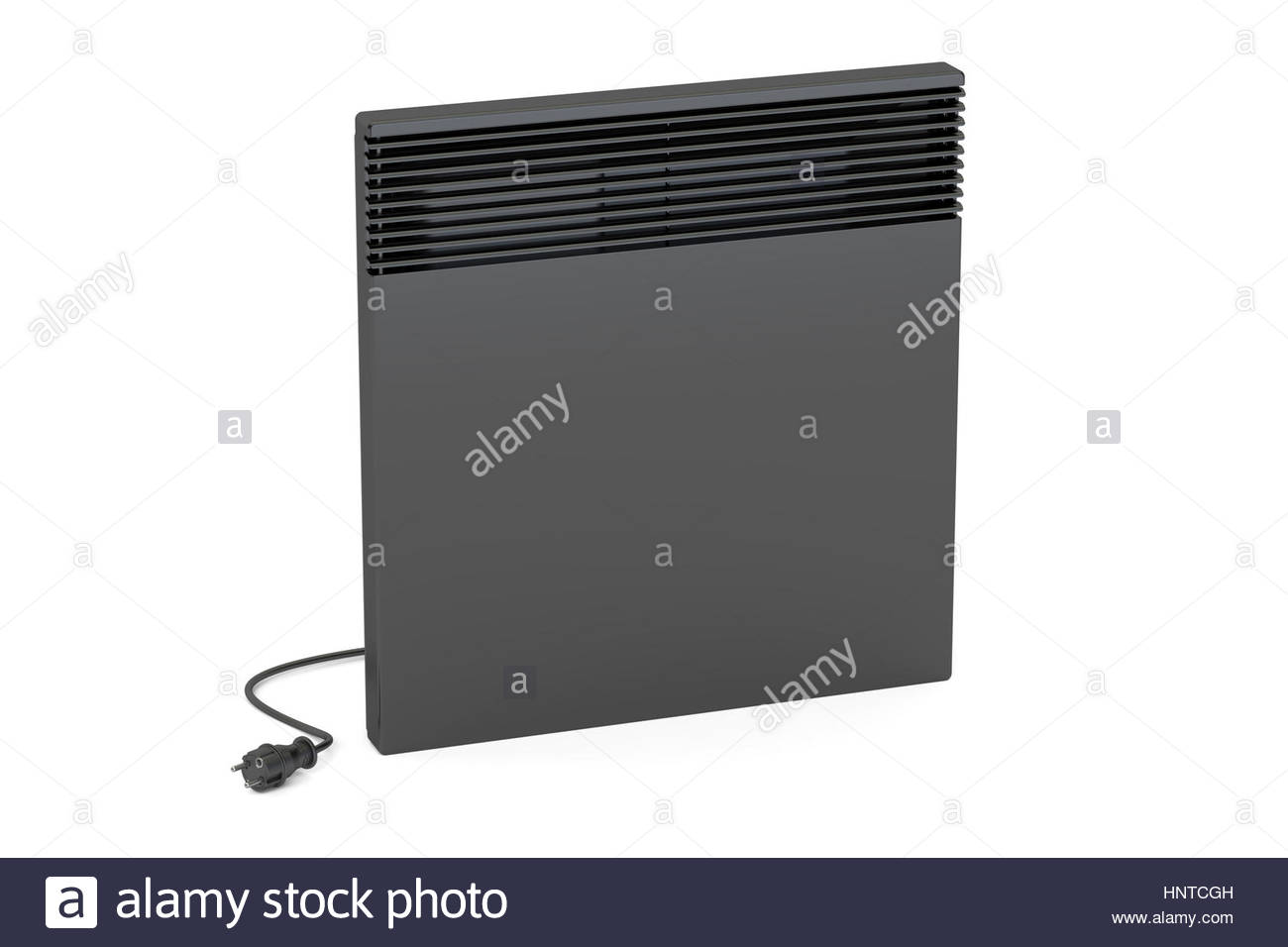Black convection heater 3D rendering isolated on white background 1300x956