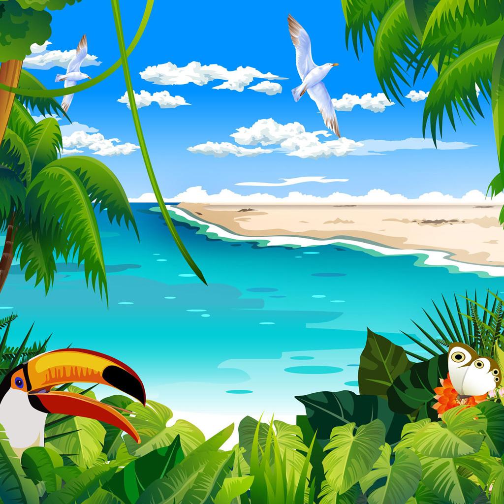 IPad Wallpapers Animated 01 Natural Scenery 2 Mini 1024x1024