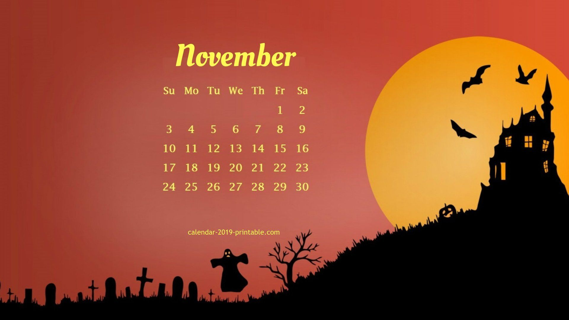 november 2019 unique calendar wallpaper in 2019 Desktop calendar 1920x1080