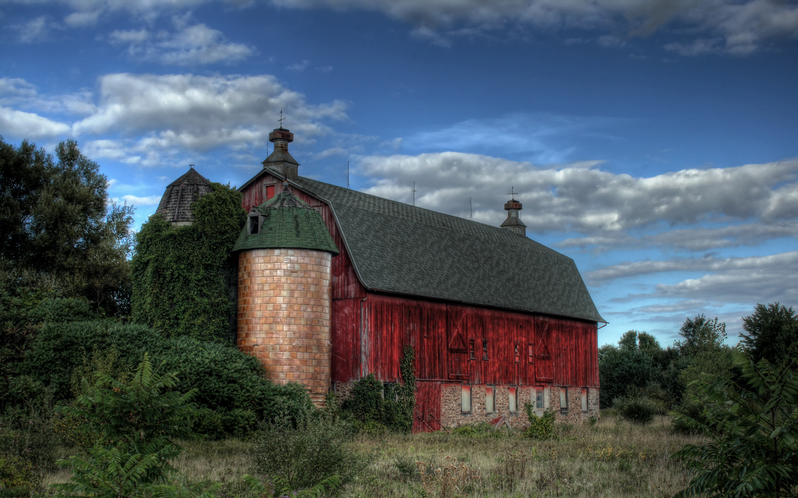 Old Red Barn Wallpapers HD Wallpapers 2560x1600