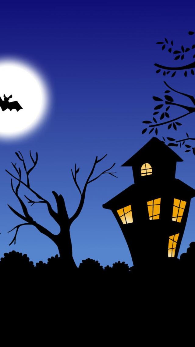 640x1136 Halloween night Iphone 5 wallpaper 640x1136