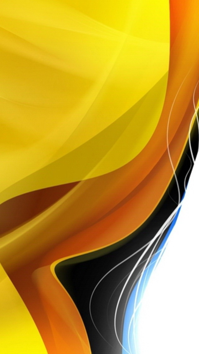 Yellow And White Background Wallpaper Abstract layers yellow orange 640x1136