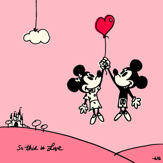 Mickey Minnie So This Is Love Wallpaper Disney Parks Blog 550x550