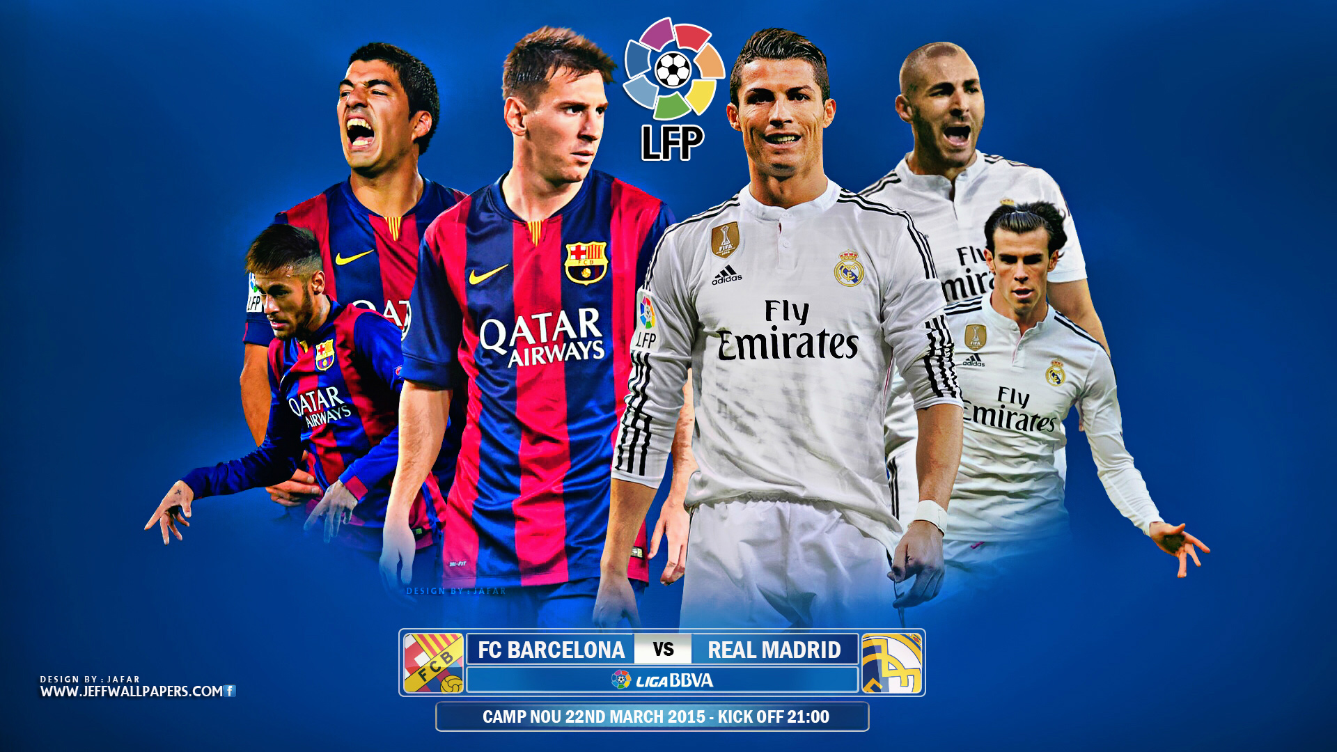 FC Barcelona vs Real Madrid 2014 2015 Primera Division HD Wallpaper 1920x1080