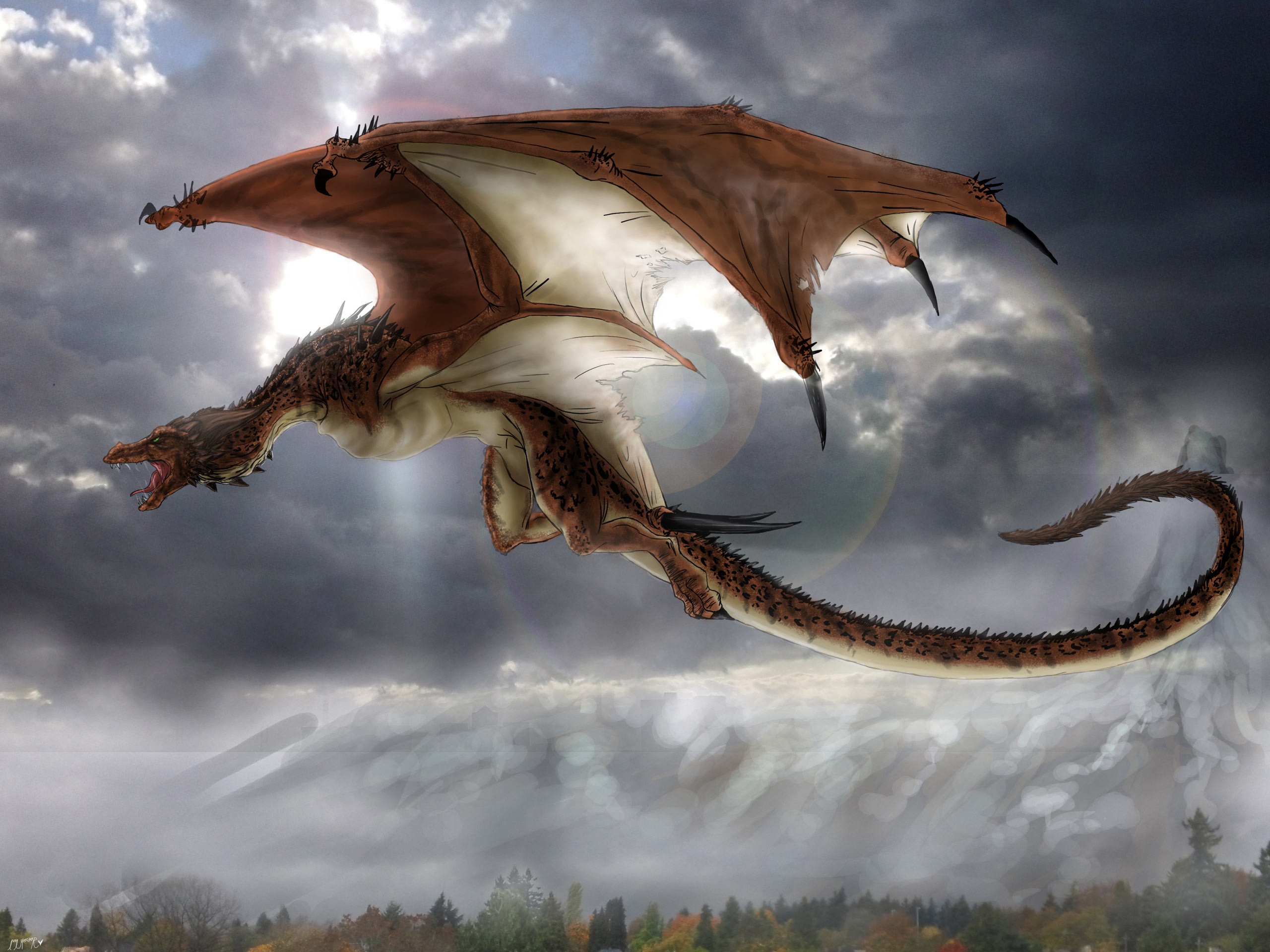 Wallpapers   Mountain Dragon Flying 2560x1920 wallpaper 2560x1920