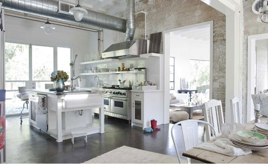 Download The Soft Industrial Vibe Of This Kitchen Is Very Appealing