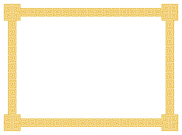 Geometric Border 4 A border of classic geometric scrolls and 600x445