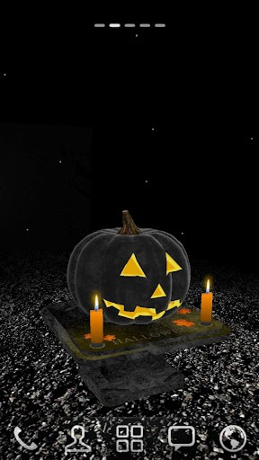 View bigger   3D Halloween Pumpkin Wallpaper for Android screenshot 288x512