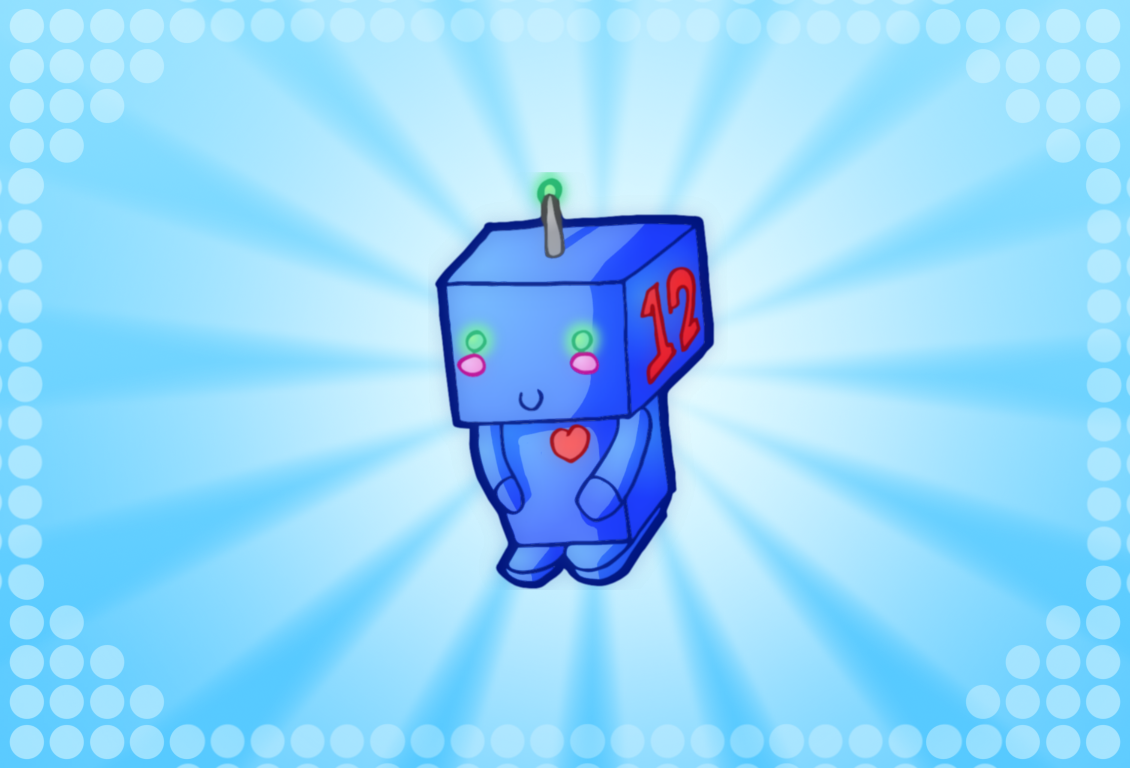 cute lil robot background by walkingpalmtree how about HD Wallpaper of 1130x768