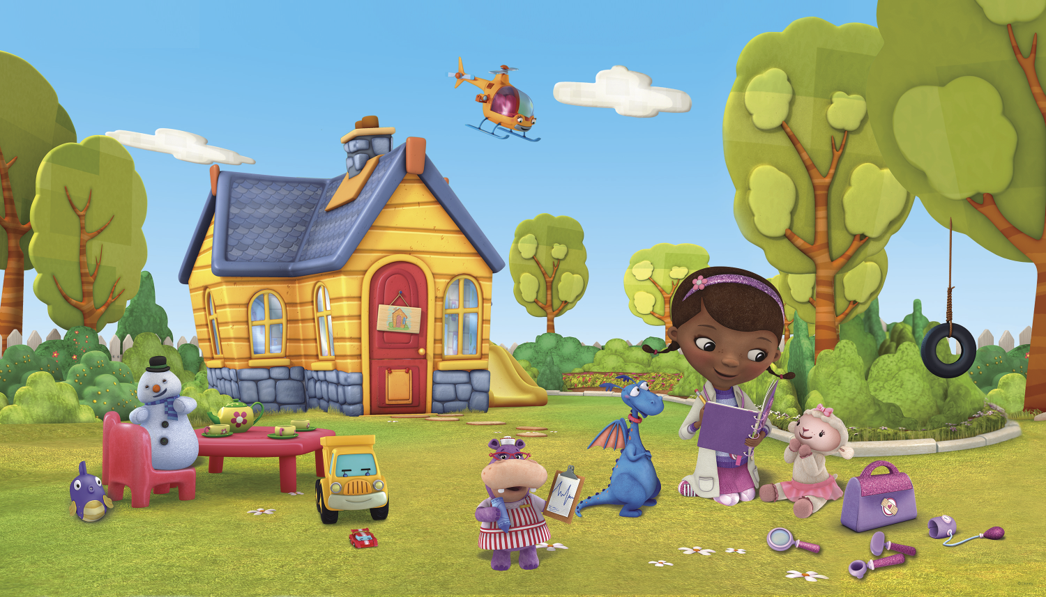 This is a picture of Dramatic Doc Mcstuffins Background