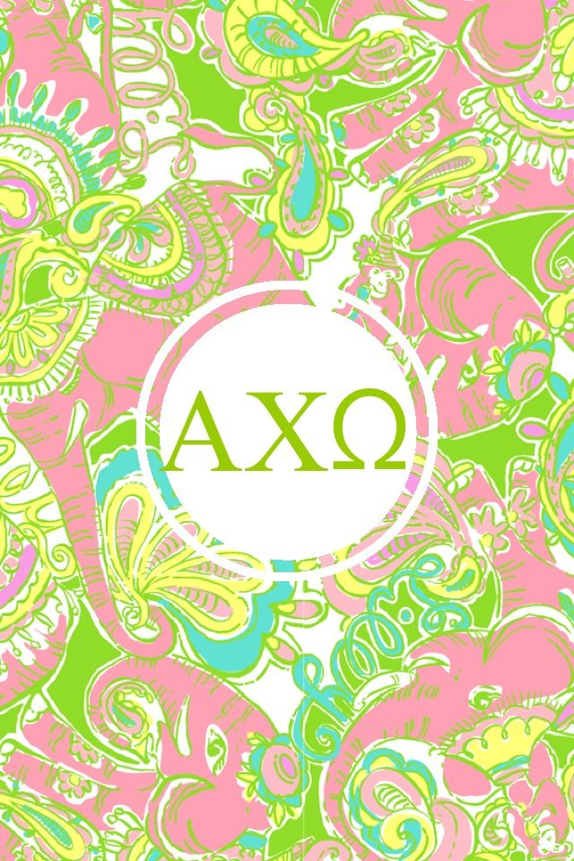 Alpha chi omega Lilly iPhone monogram background 640x960
