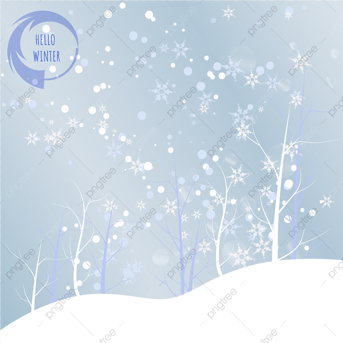 Hola Invierno Background 01 Antecedentes Azul Hola Invierno PNG 1200x1200