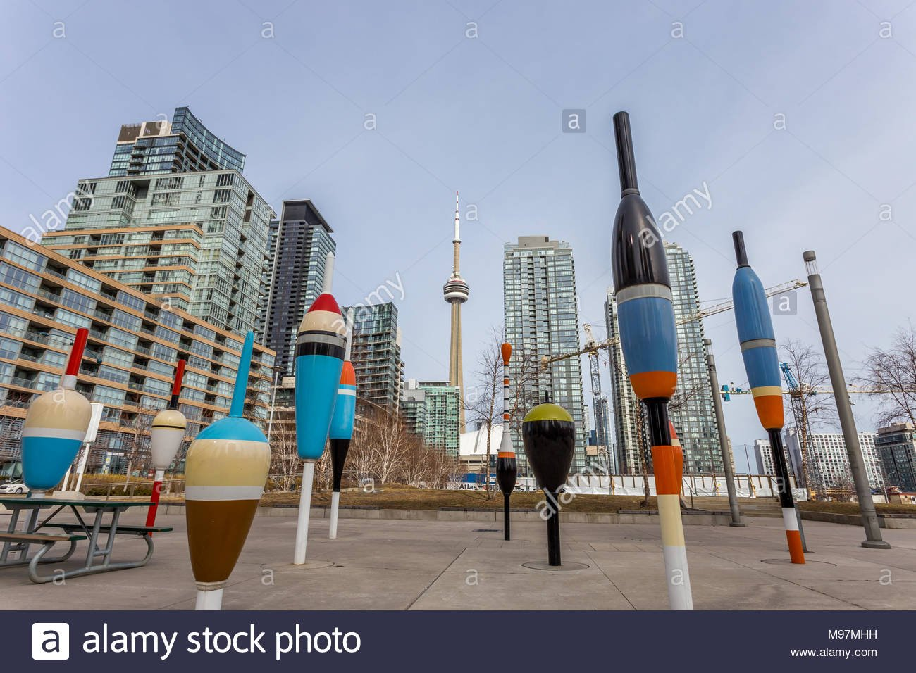 Toronto Canoe Landing Art Work with CN Tower in the background 1300x956