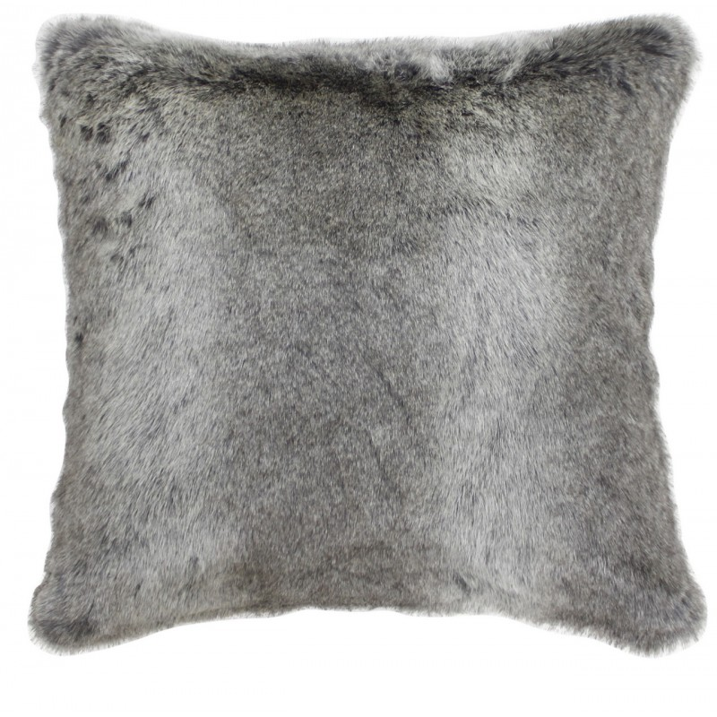 Arctic Wolf Grey Faux Fur 45 x 45cm Cushion by CIMC 800x800
