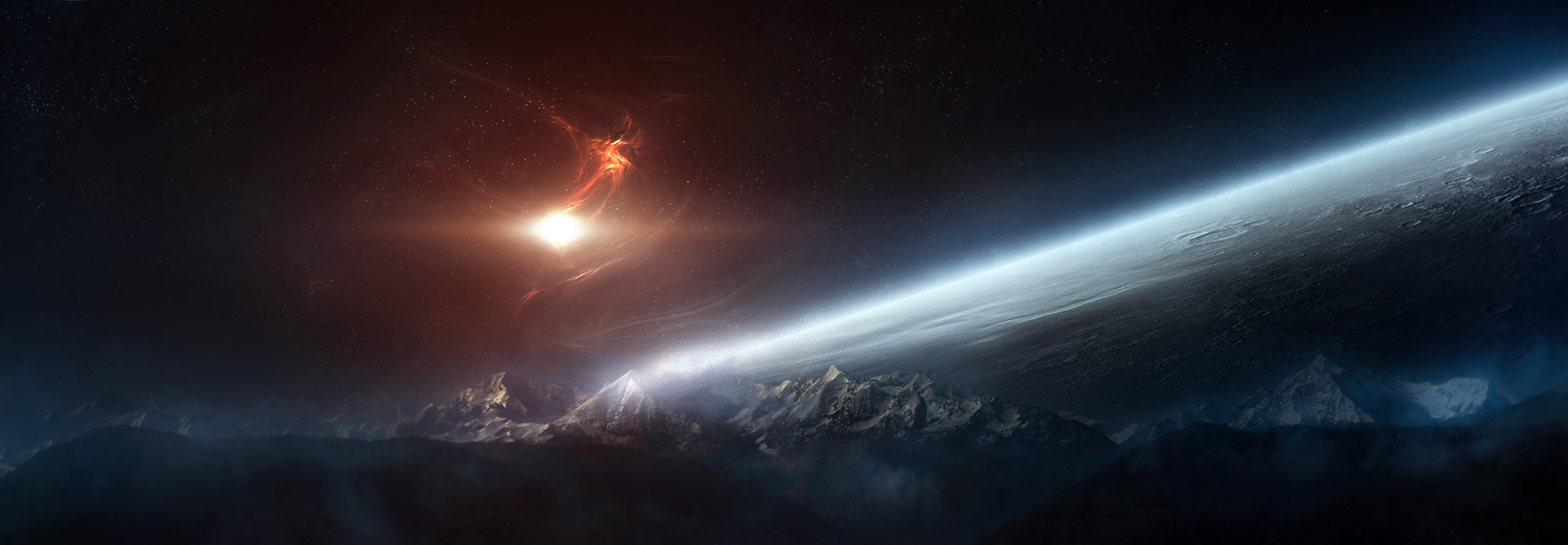 Free Download Dual Monitor Wallpaper Space All Hd Wallpapers