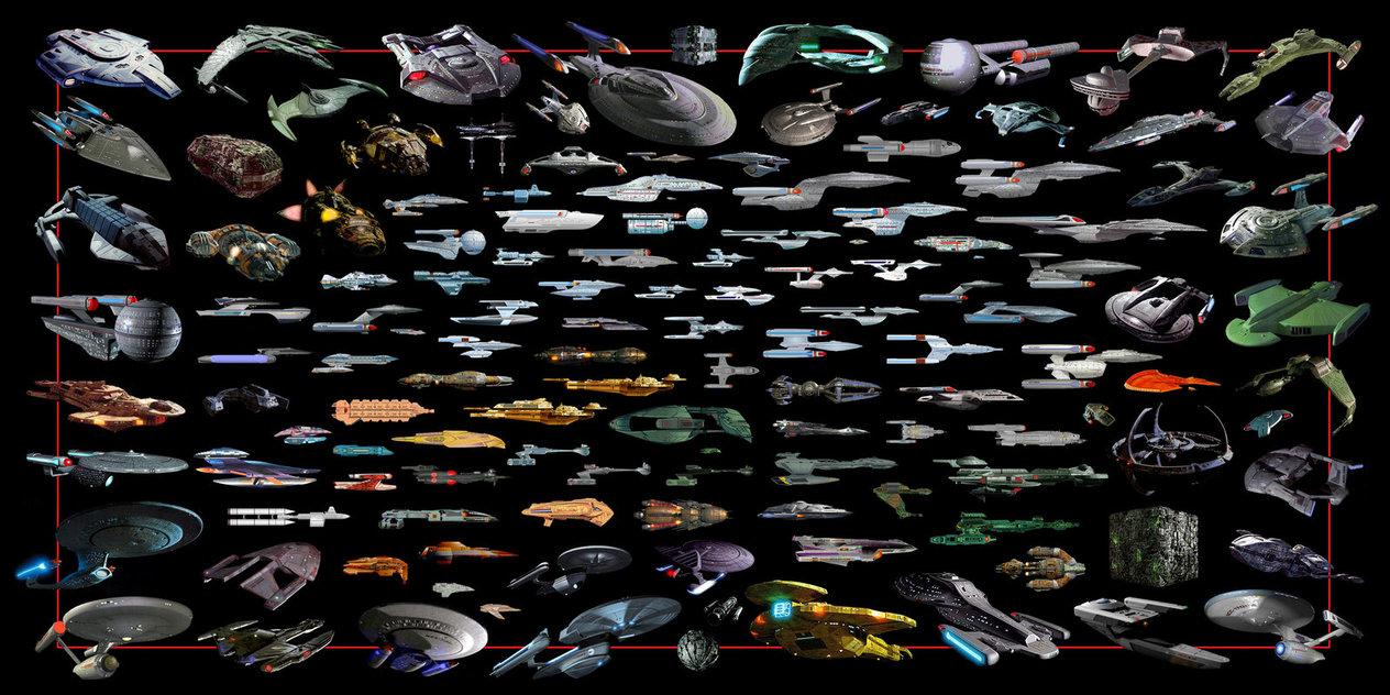 Star Trek Ships by cdleeth 1264x632