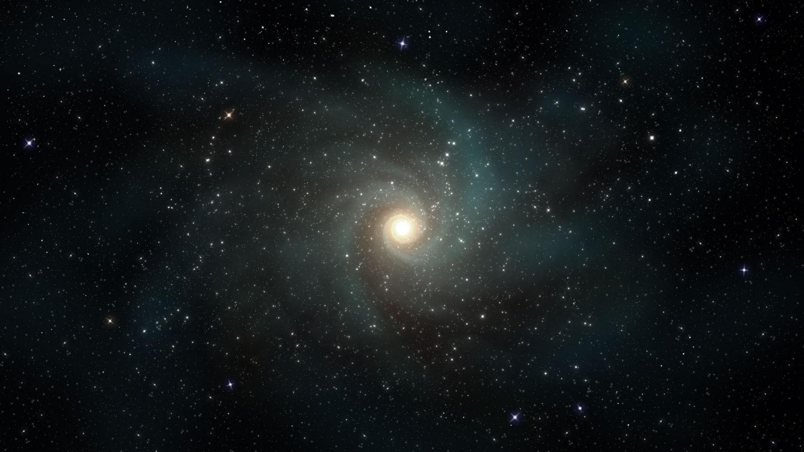 2560x1440 Wallpaper stars galaxies rotation universe 2560x1440