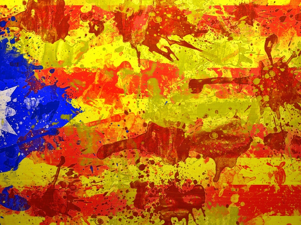 1024x768 Catalan Flag desktop PC and Mac wallpaper 1024x768