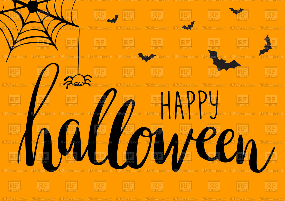 Cute Spiders Bats and Web   Halloween background Vector Image of 1200x846
